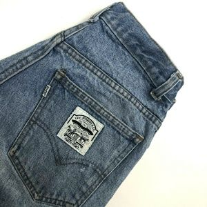 RARE Vintage Levi's White Patch Straight Leg Jeans